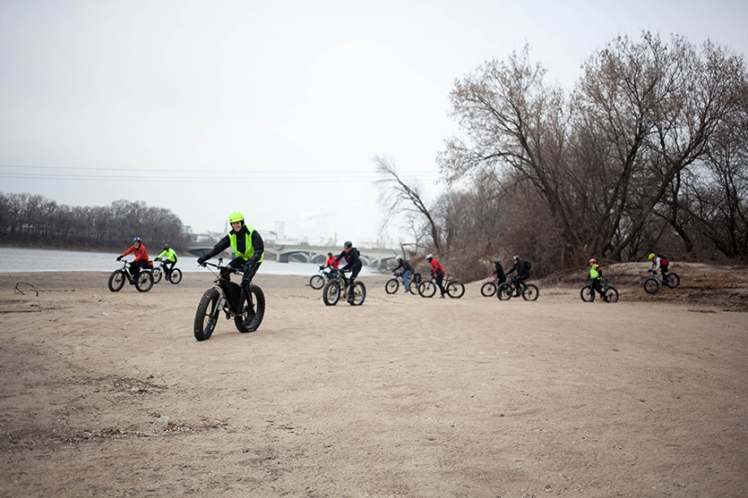 Global Fat Bike Day 2015, Cedar Rapids, Iowa