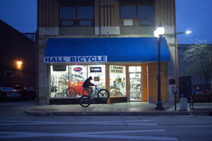 Hall Bicycle Company Storefront, Cedar Rapids, Iowa