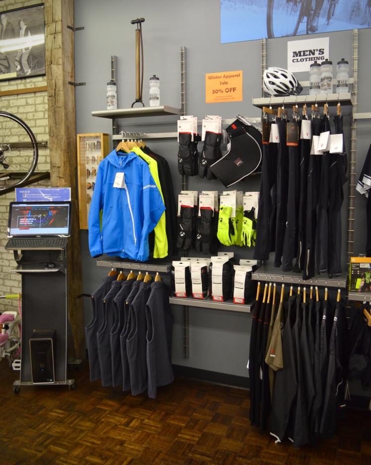Winter Apparel and Accessory Sale. Hall Bicycle | Cedar Rapids, Iowa