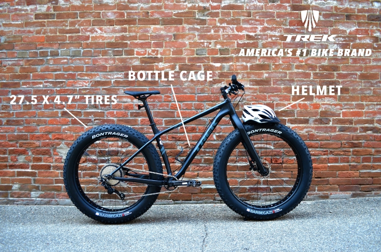 Trek 2018 Farley 5 Rental Fat Bike, Hall Bicycle Company, Cedar Rapids, Iowa