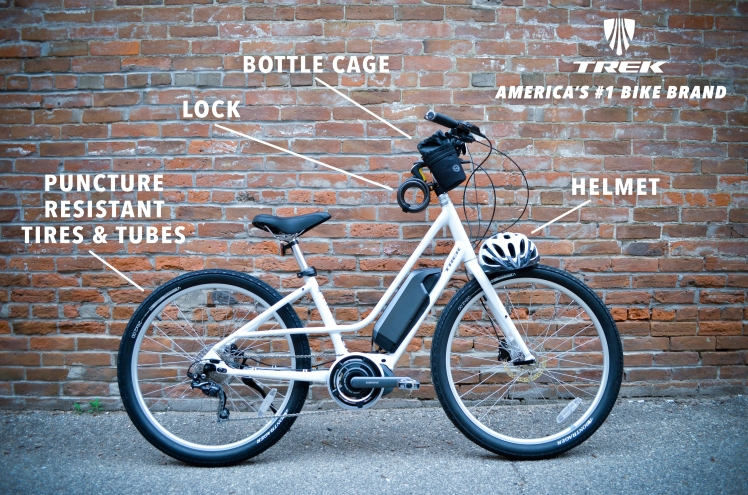 Trek Lift+, eBike, Electric Pedal Assist eBike, Trek eBike, Cedar Rapids, Iowa, Hall Bicycle Company, Rental, Bike Rental, Trek Bike Rental