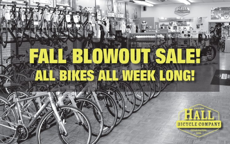 Hall Bicycle Fall Blowout Sale, Trek Bikes, Cedar Rapids, Iowa