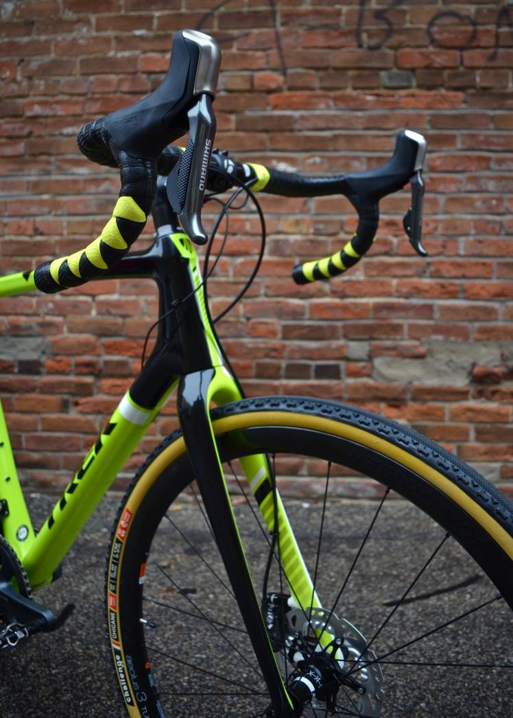 Custom Trek Boone, Shimano Ultegra, Bontrager Aeolus Wheels, Hall Bicycle Company, Cedar Rapids, Iowa, Trek Bikes, Cyclocross, Harlequin handlebar wrap, lizards skin bar tape