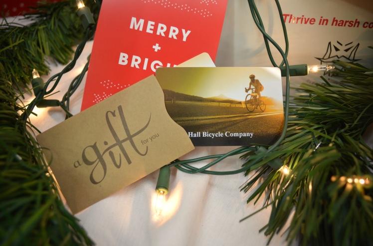 Hall Bicycle Company Christmas Gifts, Gift Card, Cedar Rapids, Iowa