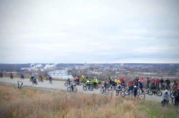 Global Fat Bike Day, GFBD, Hall Bicycle Company, Cedar Rapids, Iowa, Mount Trashmore