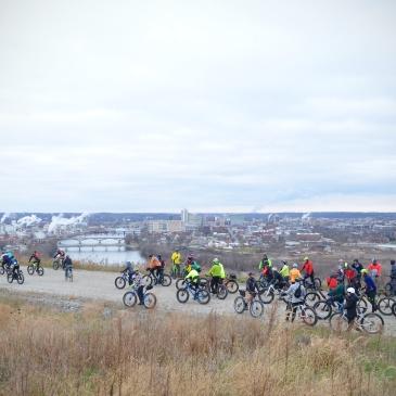 Global Fat Bike Day, GFBD, Hall Bicycle Company, Cedar Rapids, Iowa, Mount Trashmore
