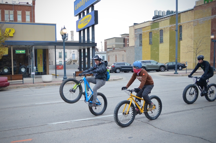 Global Fat Bike Day, GFBD, Hall Bicycle Company, Cedar Rapids, Iowa, Trek Farley 9, Surly Bikes